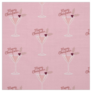 Pink Martini Christmas Fabric