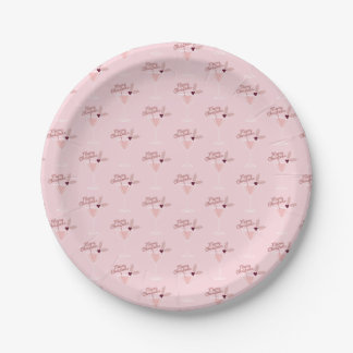 Pink Martini Christmas Paper Plate