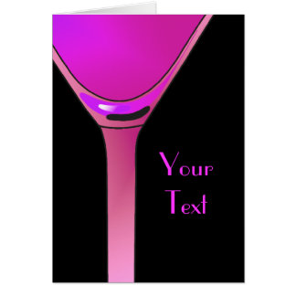 Pink Martini Cocktail Greeting Card
