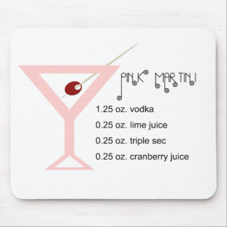 Pink Martini Mouse Pad