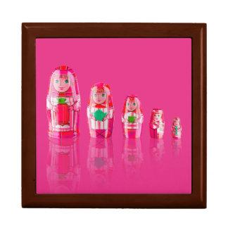 Pink Matryoshka Russian Dolls Gift Box