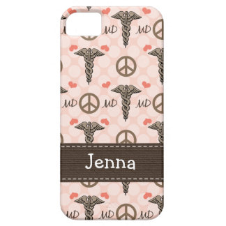 Pink MD Doctor Caduceus iPhone 5 Cover