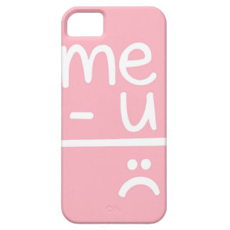 Pink Me Minus You Equals Sad Face Doodle Case For The iPhone 5