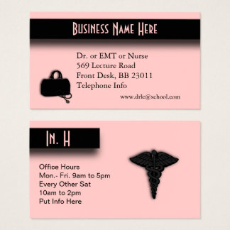 Pink Medical Business Card