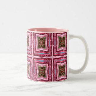 Pink medieval Two-Tone coffee mug
