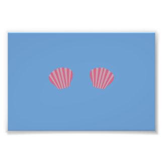 Pink Mermaid Bikini Photo Art