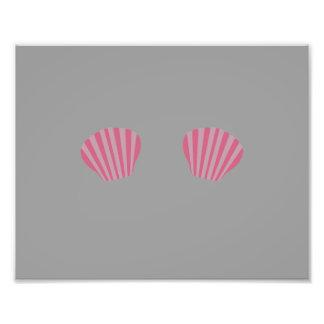 Pink Mermaid Bikini Photo Print