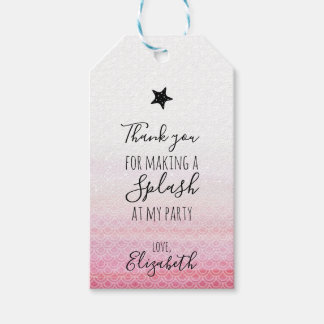 Pink Mermaid Birthday Party Gift Tags