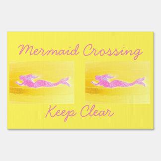 pink mermaid crossing