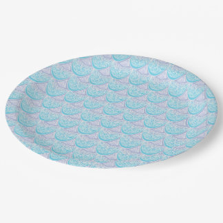 Pink Mermaid scales ,boho,hippie,bohemian Paper Plate