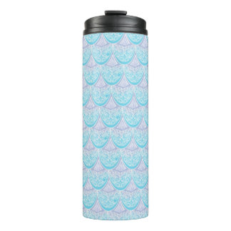 Pink Mermaid scales ,boho,hippie,bohemian Thermal Tumbler