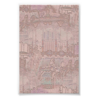 Pink Merry-Go-Round Horses Poster