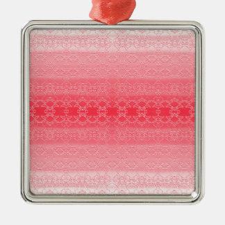 pink metal ornament
