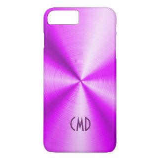 Pink Metallic Design Stainless Steel Look iPhone 7 Plus Case