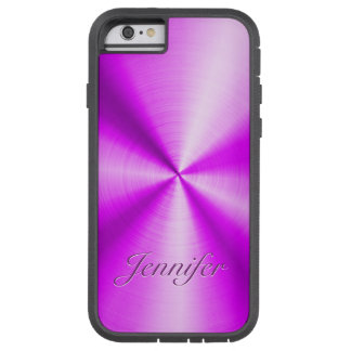 Pink Metallic Design Stainless Steel Look Tough Xtreme iPhone 6 Case