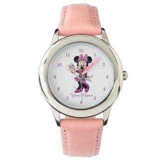 Pink Minnie   Cute Pose Watch