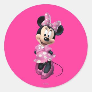 Pink Minnie | Hands Behind Back Classic Round Sticker