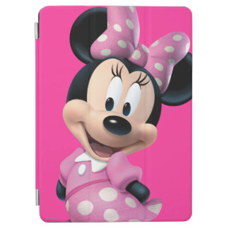 Pink Minnie | Head Outline in Background iPad Air Cover