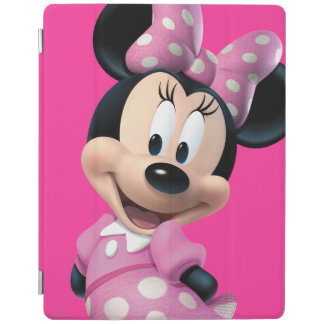 Pink Minnie | Head Outline in Background iPad Cover