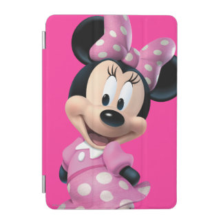 Pink Minnie | Head Outline in Background iPad Mini Cover