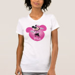 Pink Minnie | Head Outline in Background T Shirt