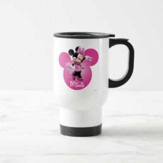 Pink Minnie | Mickey Head Icon 15 Oz Stainless Steel Travel Mug