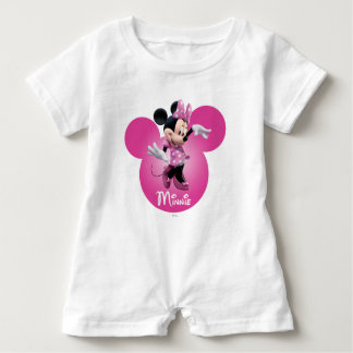 Pink Minnie | Mickey Head Icon Baby Romper