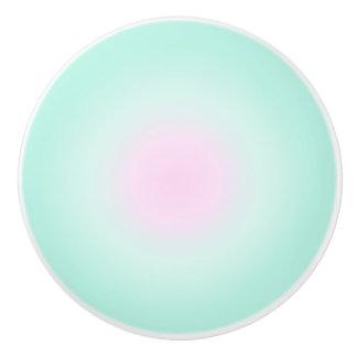 Pink Mint Pastel Gradient Ceramic Knob
