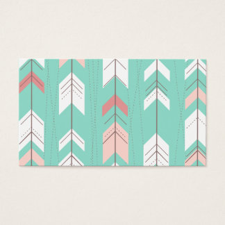 Pink Mint Tribal Aztec Business Card