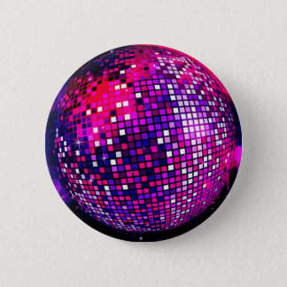 Pink Mirror Ball 2 Inch Round Button