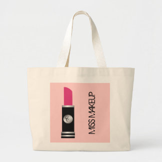 Pink Miss Makeup Tote Bag