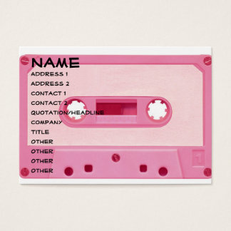 Pink Mix Tape Business Card
