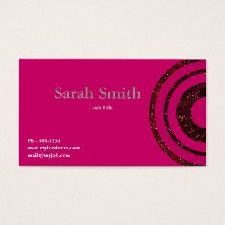 Pink Mod Circle  business card