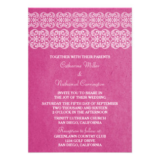 Pink Modern Bohemian Wedding Invite