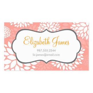 Pink Modern Flowers Business Card Templates