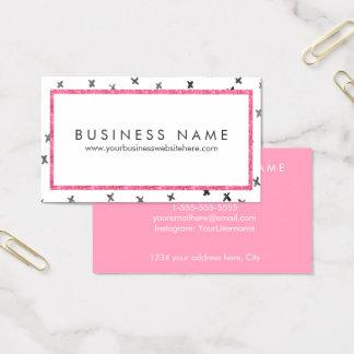 Pink Modern Glam Business Card