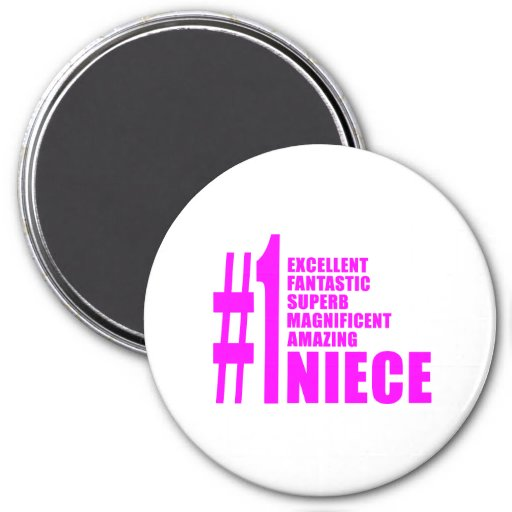 Pink Modern Nieces : Number One Niece Refrigerator Magnet