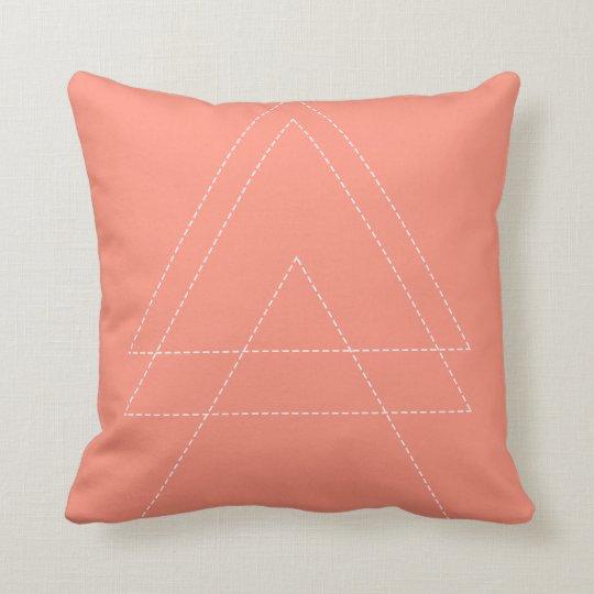 Pink Modern Triangle Throw Pillow