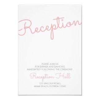 Pink Modern Typography Wedding Reception Card