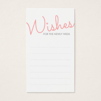 Pink Modern Typography Wedding Wishes Business Card