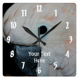 Pink Moluccan Cockatoo Parrot Animal Wall Clocks