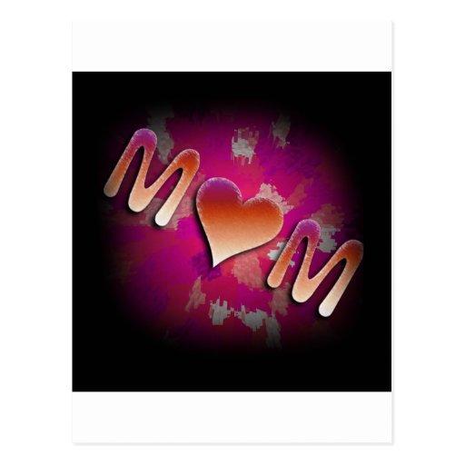 Pink MoM Design Post Cards