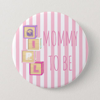 Pink Mom to Be Baby Shower Button