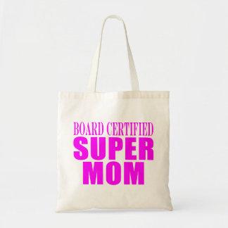 Pink Moms Birthdays Christmas Super Mom Tote Bag