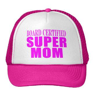 Pink Moms Birthdays & Christmas : Super Mom Trucker Hat