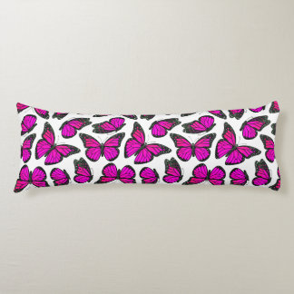 Pink Monarch Butterfly Pattern Body Pillow