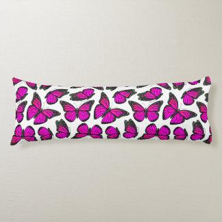 Pink Monarch Butterfly Pattern Body Pillow