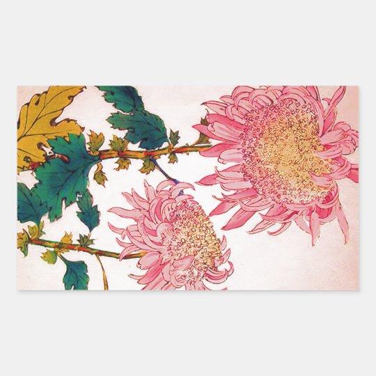 Pink Mondrian Floral Study Sticker