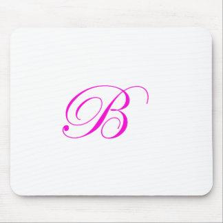 Pink Monogram B Mouse Pad
