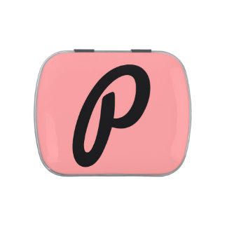 Pink Monogram Candy Tin, Personalized Mint case